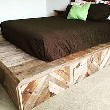 bedroom platform bed with storage drawers stylish bed queen