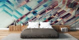 papier peint design chambre papiers peints chambre à coucher mur aux dimensions myloview fr