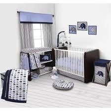 bacati elephants 10 piece crib bedding set blue gray walmart com