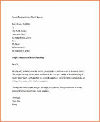 7 church resignation letter sample resign letter job