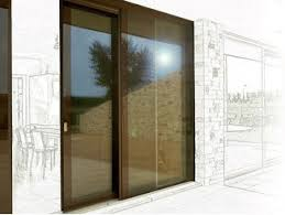 glass and aluminium patio door domal slide c160 by domal