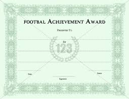 best player football certificates templates download now
