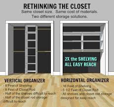 no closet solution ana white no paint horizontal closet organizer diy projects