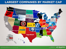 Michigans State Flag This Map Shows The Biggest Company In Each State By Market Cap