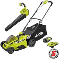 ryobi fan and battery ryobi 16 in 40 volt lithium ion cordless lawn mower with jet fan