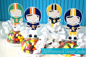 candy containers for favors football football birthday party football party favors