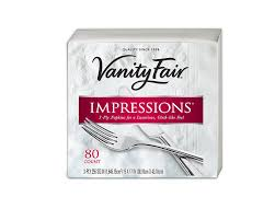 Vanity Fair Customer Service Phone Number Amazon Com Vanity Fair Impressions Napkins 80 Count Pack Of 2