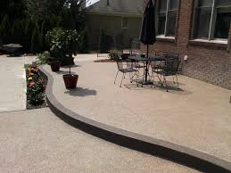 Raised Patio Construction Raised Exposed Aggregate Concrete Patio With Accent Complete
