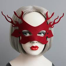 vintage masks party masks reindeer felt mask vintage mask