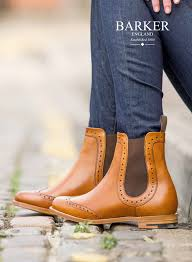 womens boots uk look get the look chelsea brogue boots from barker shoes a
