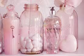 Shabby Chic Bathroom Accessories Sets Shabby Chic Decor Pink Bottle Art Pink Shabby Chic Bottles