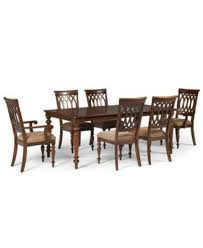 Bradford Dining Room Furniture Collection Covina 7 Piece Dining Set Table 4 Side Chairs U0026 2 Arm Chairs