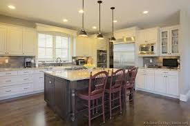kitchen of the day two tone kitchens in traditional homes