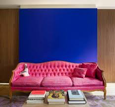 Purple Accent Wall by Pink Sofas An Unexpected Touch Of Color In The Living Room