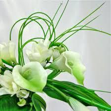 fleur artificielle mariage bouquet de mariée artificiel original blanc vert bouquets de