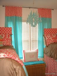 Coral And Turquoise Curtains Coral And Turquoise Curtains Marvelous Teal Orange