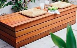 Wooden Deck Bench Plans Free by Patio Furniture Storage Bench Roselawnlutheran