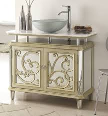 Empire Bathroom Vanities by Adelina 38 5 Inch Mirrored Reflection Vessel Sink Bathroom Vanity