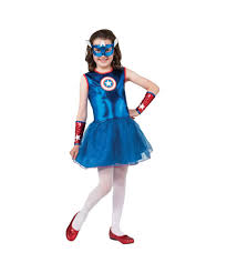 Marvel Halloween Costume Marvel Captain America Girls Superhero Halloween Costume Girls