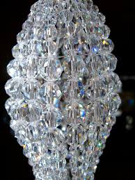 Swarovski Chandelier Crystals by Small Swarovski Crystal Faceted Chandelier Beaded By Atelier3059