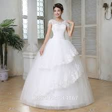 cheap short sleeves lace wedding dress and gowns frock