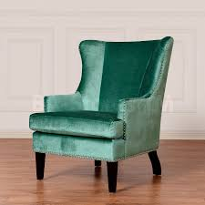 soho turquoise velvet wing chair accent chairs tov wil tv 7