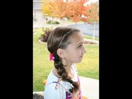 double twists into side braid cute girls hairstyles youtube