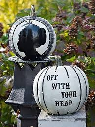 black and white outdoor decorations
