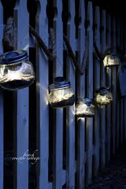 Mason Jar Lights Outdoor by Solar Powered Mason Jar Lights French Country Cottage