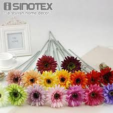 gerbera bouquet silk artificial flowers gerbera sun flowers mariage birthday party