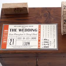 ticket wedding invitations holli stationery collection wedding weddings and wedding