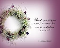 thank you cards for funeral funeral thank you notes wording wordings and messages