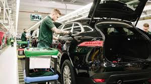 jaguar f pace trunk jose mourinho visits jaguar f pace production line motor1 com photos