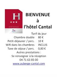 prix moyen chambre hotel règlementation sur l affichage des prix nuitées cdt cantal pro