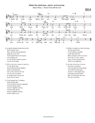 hymn midst the darkness storm and sorrow