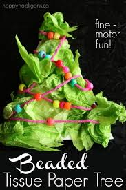 Vegetable Decoration For Christmas by Beaded Tissue Paper Tree A Fine Motor Preschool Craft For