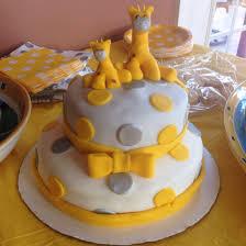 giraffe cake yellow and grey for baby shower gifs pinterest