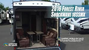 Forest River Travel Trailers Floor Plans 2016 Shockwave 18ssmx 18 Foot Toy Hauler By Forest River Andy