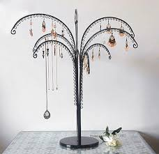 earring holder necklace images High quality metal earring dislay tree jewelry holder necklace jpg