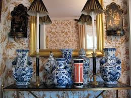 chinoiserie chic vignette from my chinoiserie home