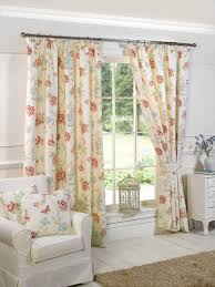 Shabby Chic Floral Curtains by Charlotte Natural Curtains Www Curtainscouture Co Uk Gordon John