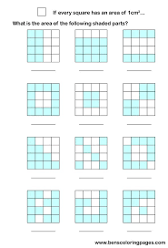 area math worksheets
