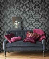 Wallpaper Livingroom by Best 25 Damask Wallpaper Ideas On Pinterest Grey Damask