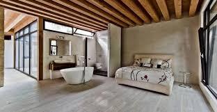 salle de bain dans une chambre salle de bain ouverte sur chambre pratique et esthétique