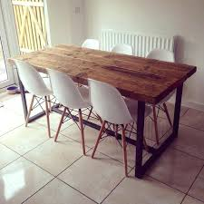 Stainless Steel Dining Table Dining Table Metal And Wood Dining Room Chairs Table With