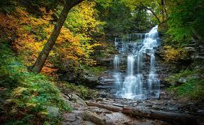 Pennsylvania Forest images Waterfalls autumn cascade stones river waterfall pennsylvania jpg