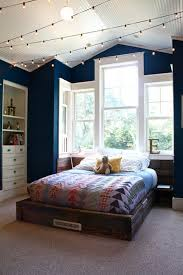 Bedroom Track Lighting Ideas Bedroom Ideas With Bold Blue Wall Decoration And Track