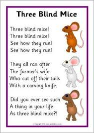Three Blind Mice Piano Notes Three Blind Mice Rhymes And Songs For Children Pinterest