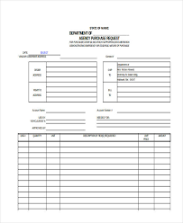 Purchase Request Form Template Excel Request Form In Excel