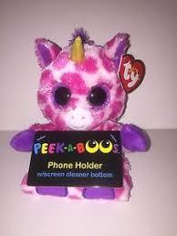 ty peek boo phone holder screen cleaner bottom pups dog